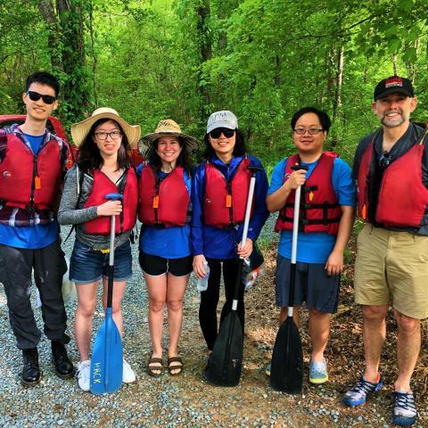 Zauscher Group on Haw River, Spring 2018