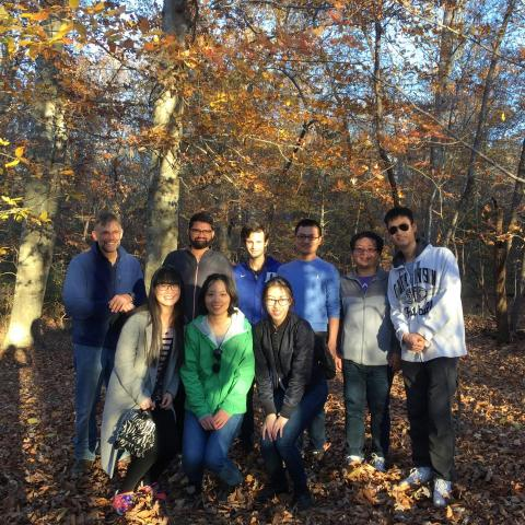 Zauscher Group Hiking at Eno Fall 2017