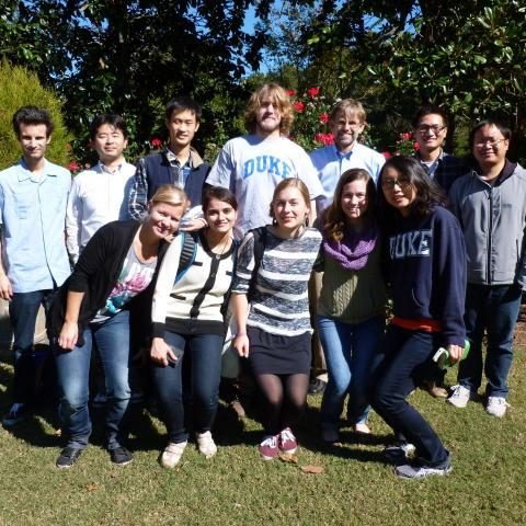 Zauscher Group in Duke Gardens Fall 2014