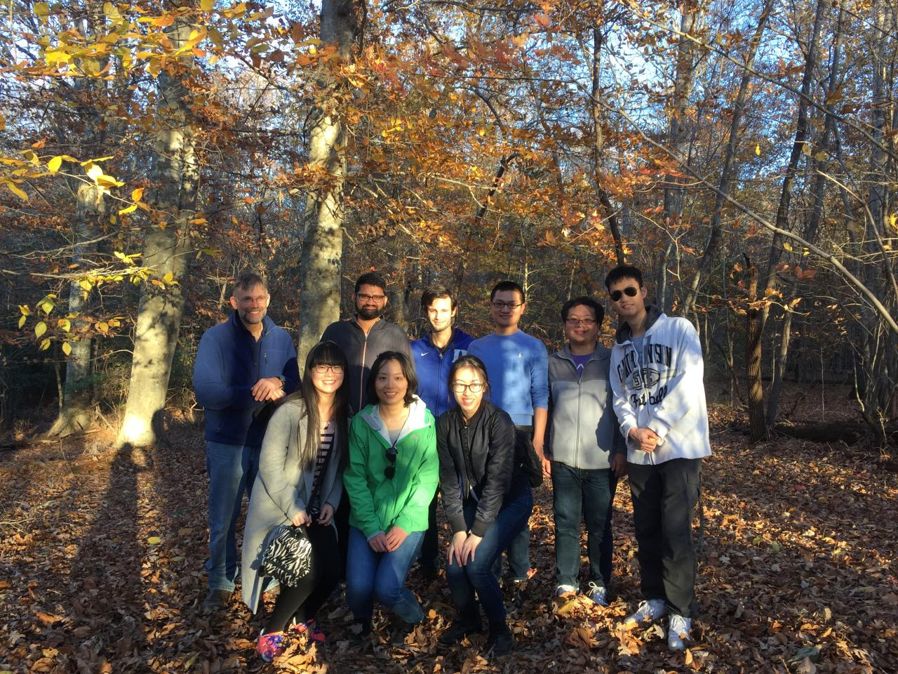 Zauscher Group Hiking at Eno Fall 2017